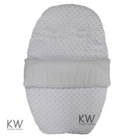 Dimple Velour Padded Car Seat Footmuff: White