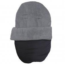 Grey Fleece Car Seat Footmuff
