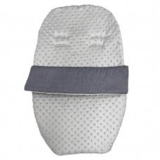 Dimple Velour Padded Car Seat Footmuff: Grey