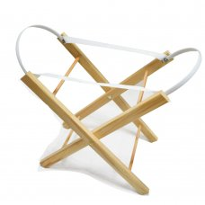 Dolls Moses Basket Stand: Pine