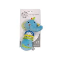 GP-25-0893: Baby Musical Squeeze and Rattle Toy - Elephant (0+ Months)
