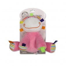 GP-25-0899: Baby Animal Rattle Toy - Hippo (0+ Months)