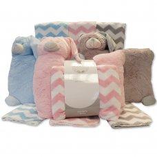 GP-25-0913: Baby Plush Animal Cushion & Blanket Set