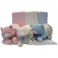 GP-25-0914: Baby Plush Animal Cushion & Blanket Set