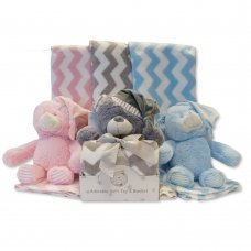 GP-25-0915: Baby Plush Toy with Zig-Zag Blanket in Box