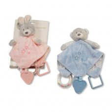 GP-25-0924: Baby Comforter With Rattle, Teether & Ring (0+ Months)