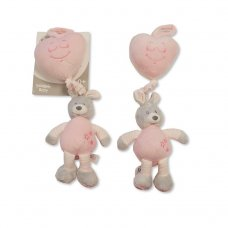 GP-25-0925P: Baby Girls Activity Pull Musical Rabbit With Heart (0+ Months)