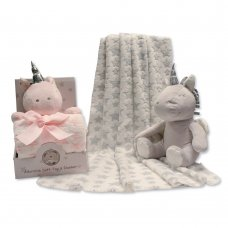 GP-25-0942: Plush Unicorn Toy with Blanket in Box