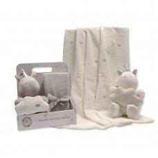 GP-25-0943: Plush Unicorn Toy with Blanket in Box