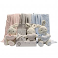 GP-25-0946: Plush Bunny Rabbit Toy with Blanket in Box