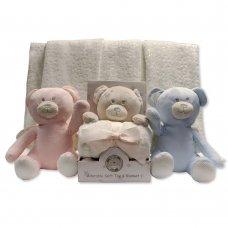 GP-25-0947: Plush Teddy Bear with Blanket in Box