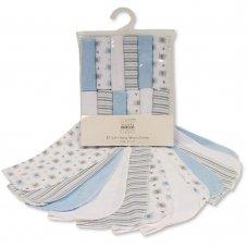 GP-25-0948: Baby Boys Wash Cloths 12-Pack - Patterns