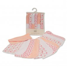 GP-25-0951: Baby Girls Wash Cloths 12-Pack - Flowers