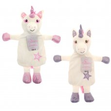 HWB176005: Novelty Unicorn Hot Water Bottle (2 Colours)