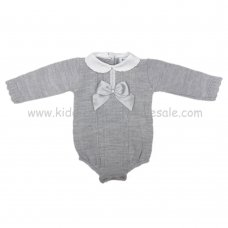 MC303G: Baby Grey Knitted Romper (0-9 Months)