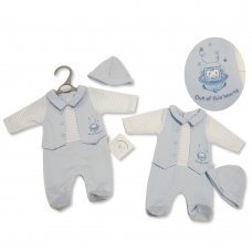 PB-20-325: Premature Baby Boys All In One & Hat Set - Out Of This World