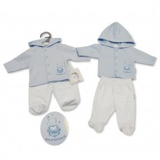 PB-20-326: Premature Baby Boys Hooded Jacket & Pant Set - Out Of This World