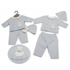 PB-20-329: Premature Baby Boys 3 Piece Set - Mary Had A Little Lamb