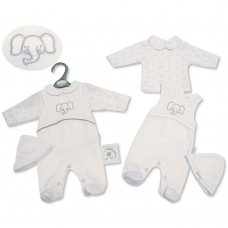 PB-20-334: Premature Baby Neutral 3 Piece Set - Elephant