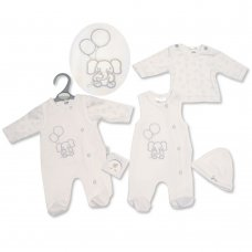 PB-20-335: Premature Baby Neutral 3 Piece Set - Elephant