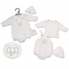 PB-20-336: Premature Baby Neutral 3 Piece Set - Elephant
