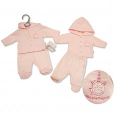 PB-20-338: Premature Baby Girls Hooded Jacket & Pant Set - Unicorn
