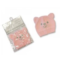 PB-20-427P: Knitted Premature Baby Hats - Pink