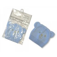 PB-20-427S: Knitted Premature Baby Hats - Sky