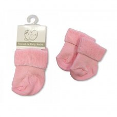 PB-20-470P: Premature Baby Turn Over Socks - Pink