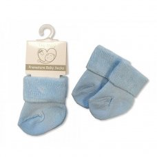 PB-20-470S: Premature Baby Turn Over Socks - Sky