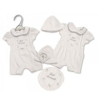 PB-20-489: Premature Girls Just Arrived Romper & Hat Set