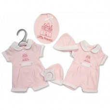 PB-20-503: Premature Girls Little Princess Romper & Hat Set
