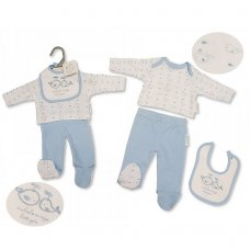 PB-20-510: Premature Boys 3 Piece Set - Whale