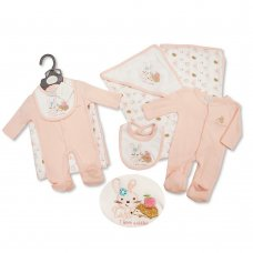 PB-20-513: Premature Baby Girls 3 Piece Blanket Set - I Love Cuddles