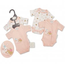 PB-20-514: Premature Baby Girls 2 Pack Bodysuits - I Love Cuddles