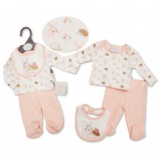 PB-20-515: Premature Baby Girls 3 Piece Set - I Love Cuddles
