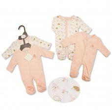 PB-20-516: Premature Baby Girls 2 Pack Sleepsuits - I Love Cuddles