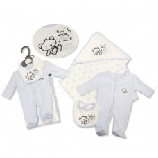 PB-20-518: Premature Baby Boys 3 Piece Blanket Set - Cute Little One