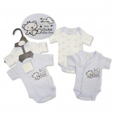 PB-20-519: Premature Baby Boys 2 Pack Bodysuits - Cute Little One