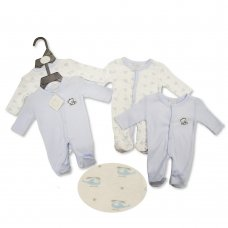 PB-20-521: Premature Baby Boys 2 Pack Sleepsuits- Cute Little One