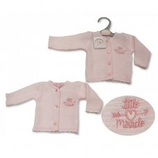 PB-20-915: Premature Baby Girls Knitted Cardigan - Little Miracle