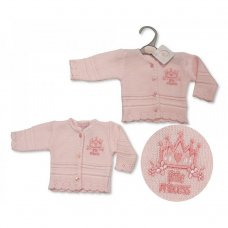 PB-20-921: Premature Baby Girls Knitted Cardigan - Little Princess