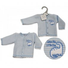 PB-20-924: Premature Baby Boys Knitted Cardigan - Dino