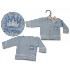 PB-20-928: Premature Baby Boys Knitted Cardigan - Little Prince