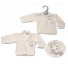 PB-20-929: Premature Baby Knitted Cardigan - Royalty