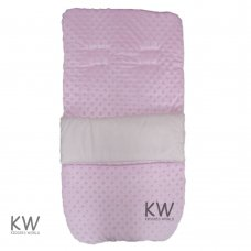 Dimple Velour Padded Footmuff/Cosytoe: Pink
