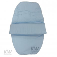 Plain Poly/Cotton Car Seat Footmuff: Blue