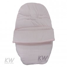 Plain Poly/Cotton Car Seat Footmuff: Pink