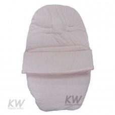 Plain Poly/Cotton Car Seat Footmuff: Pink
