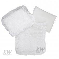 Broderie Anglaise 3 Pce Pram Quilt Set: White